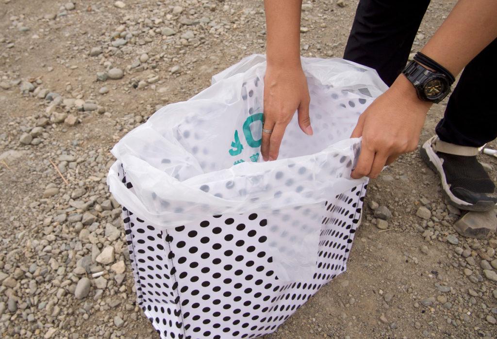 ゴミ袋をPPバッグに設置